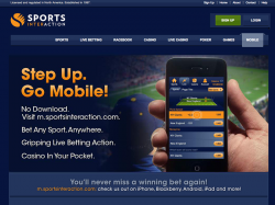 page mobile sports interaction